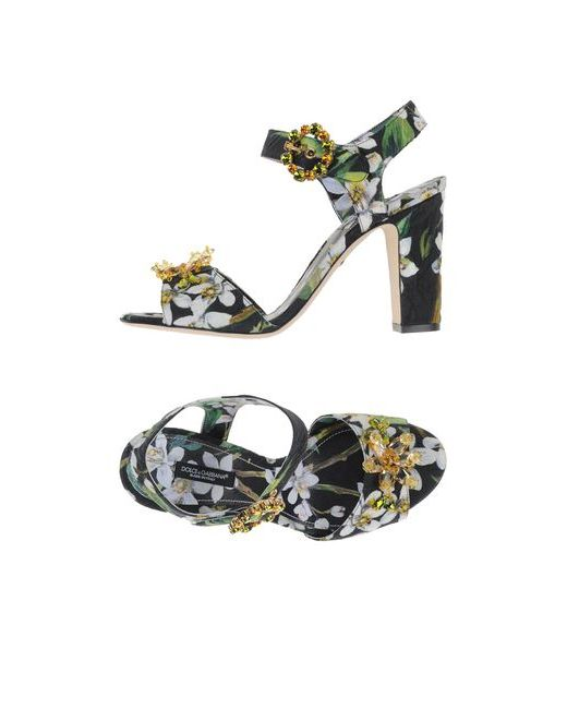Dolce & Gabbana   Женские Чёрные Сандалии