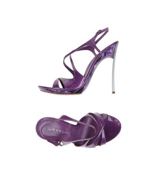 Casadei | Женские Фиолетовые Сандалии