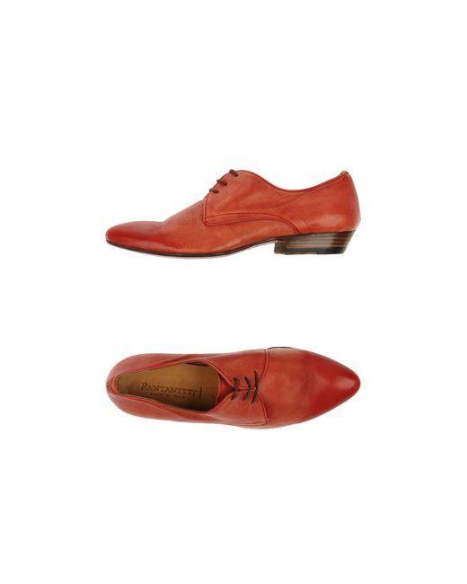 Pantanetti   Женская Красная Обувь На Шнурках