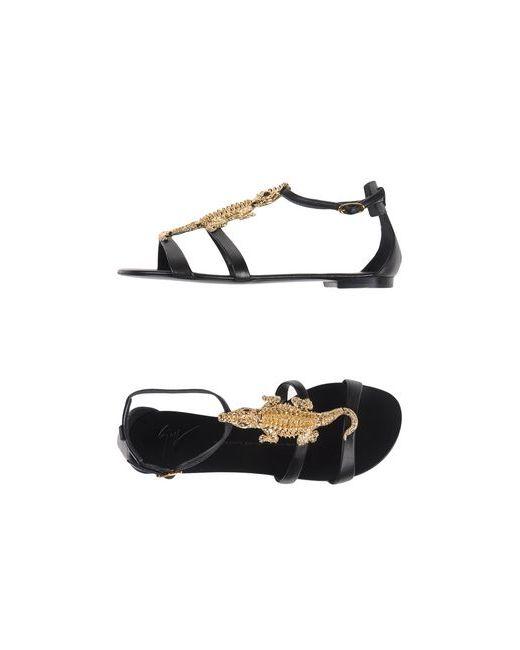Giuseppe Zanotti Design | Женские Чёрные Сандалии