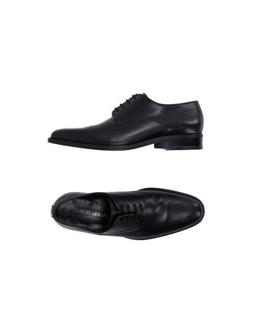 Giorgio Armani | Мужская Чёрная Обувь На Шнурках