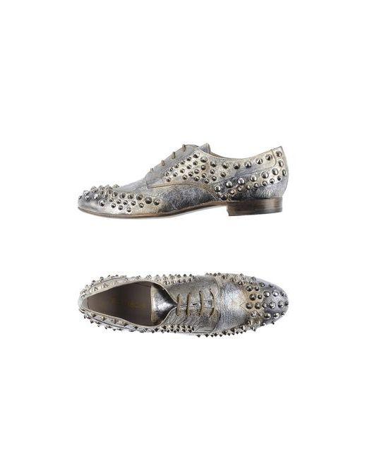 Elena Iachi | Женская Серебристая Обувь На Шнурках