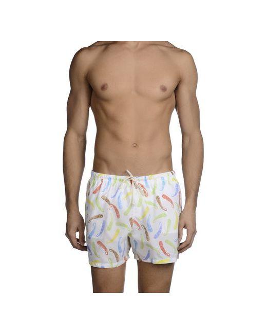 Mosaique | Мужские Белые Шорты Для Плавания