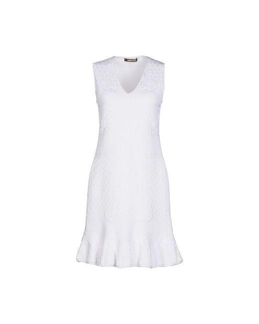 Roberto Cavalli | Женское Белое Короткое Платье