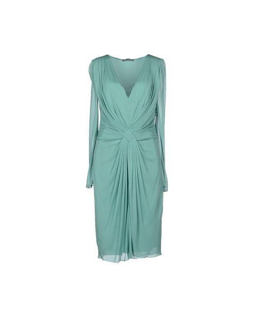 Alberta Ferretti | Женское Зелёное Платье До Колена