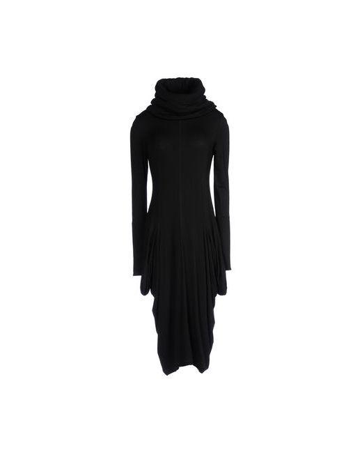 Oblique | Женское Чёрное Платье До Колена