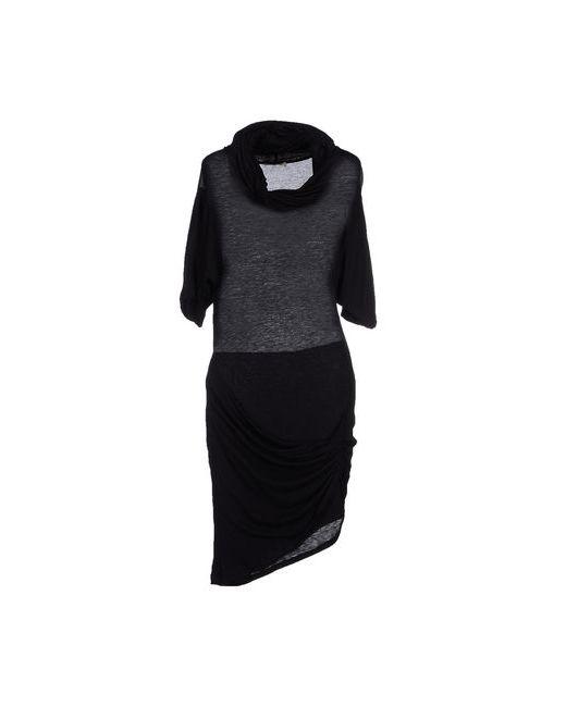 Pinko Grey | Женское Чёрное Платье До Колена