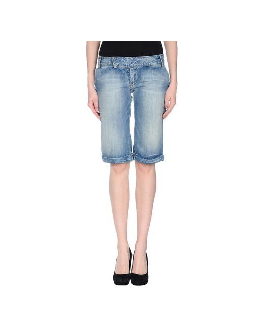 Pepe Jeans London   Женские Синие Джинсовые Бермуды