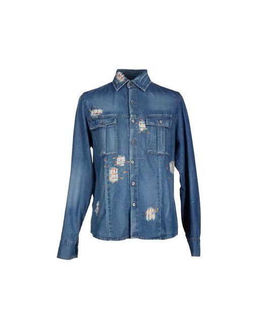 Ermanno Scervino   Мужская Синяя Джинсовая Рубашка