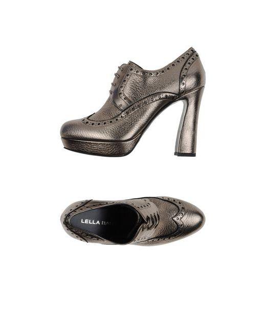 Lella Baldi | Женская Платиновая Обувь На Шнурках