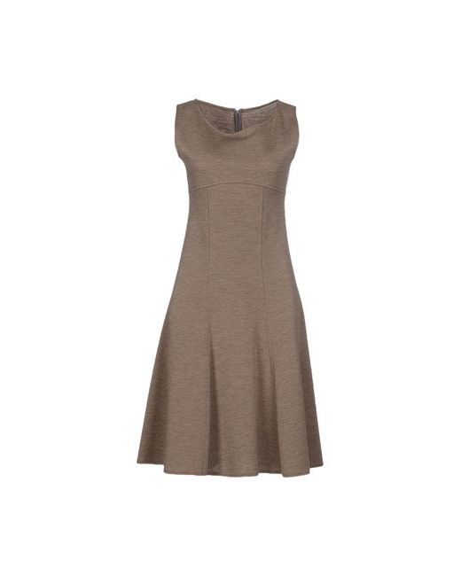 Armani Collezioni | Женское Хаки Платье До Колена