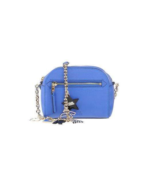 Karl Lagerfeld   Женская Синяя Сумка Через Плечо