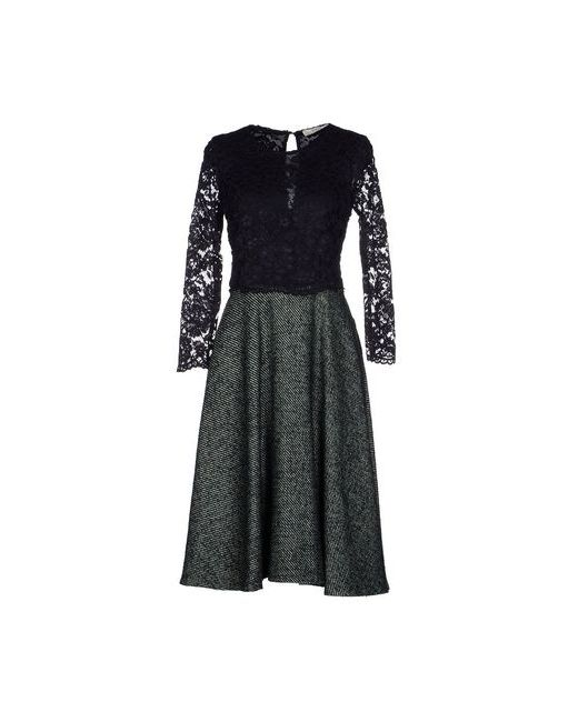 Suoli | Женское Зелёное Платье До Колена