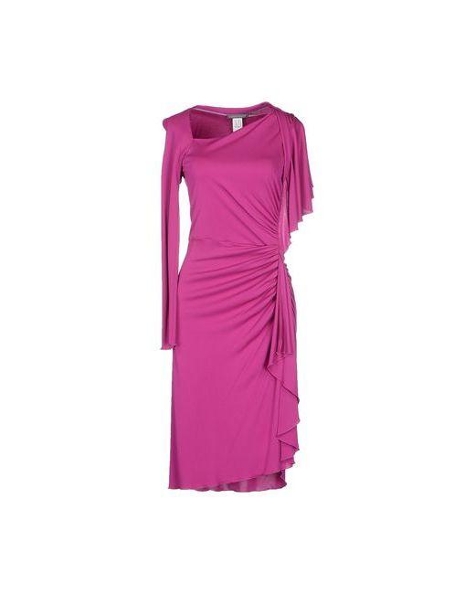 Alberta Ferretti   Женское Фиолетовое Платье До Колена