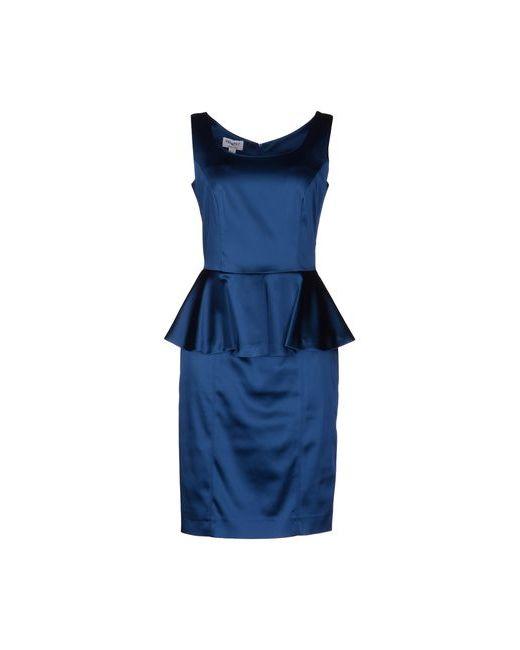 Piu' & Piu' | Женское Синее Платье До Колена