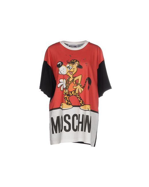 Moschino Couture | Женская Красная Футболка