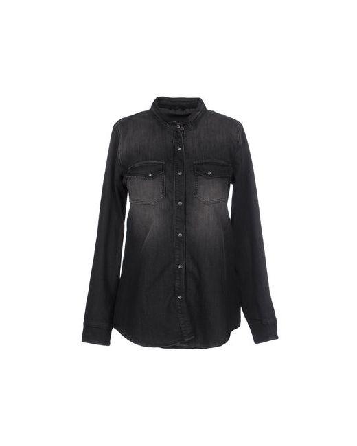 SOALLURE | Женская Чёрная Джинсовая Рубашка