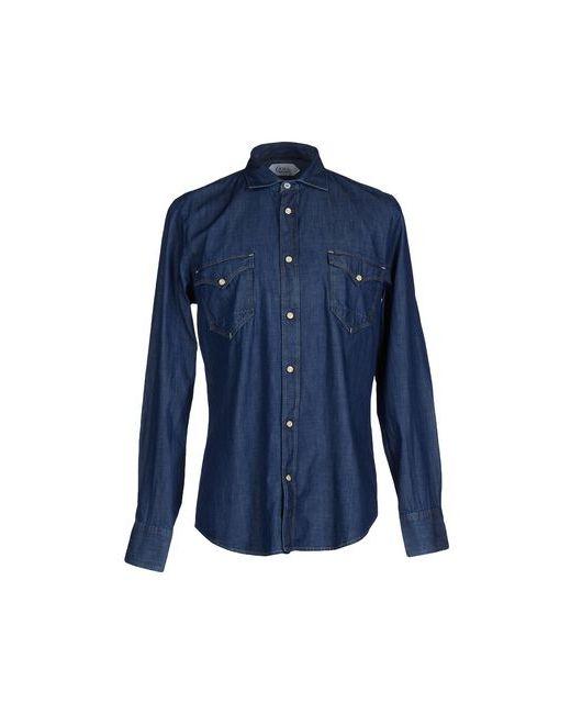 Cycle   Мужская Синяя Джинсовая Рубашка