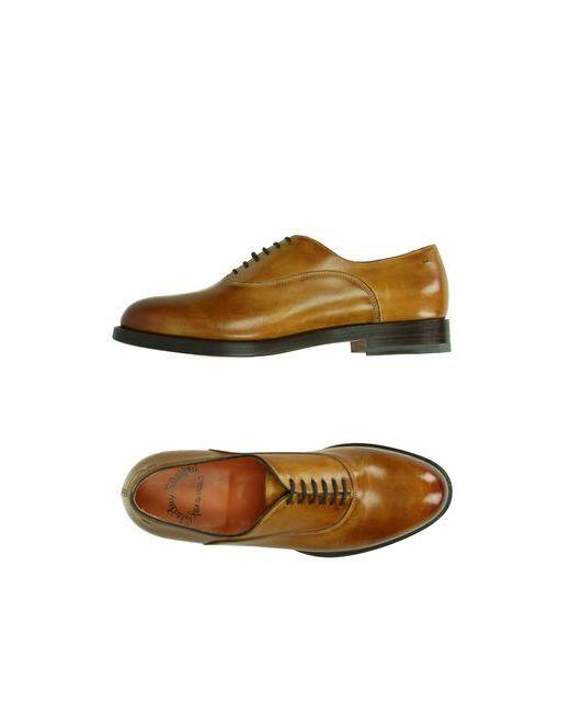 Santoni   Мужская Коричневая Обувь На Шнурках