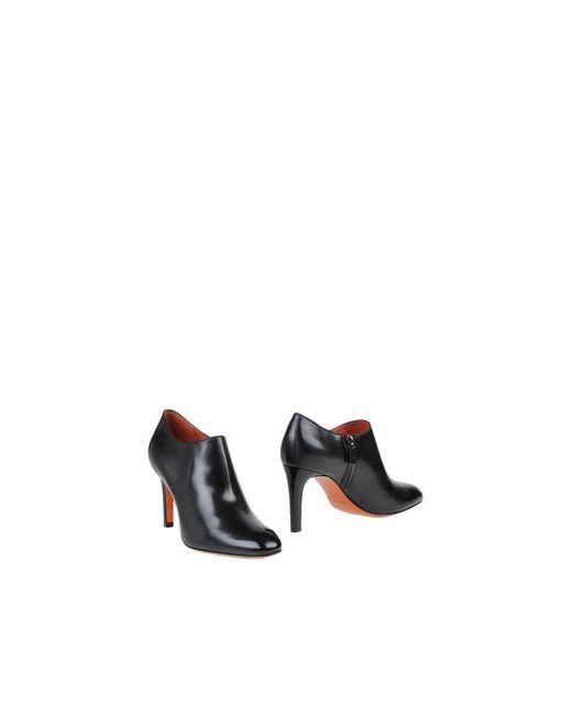 Santoni | Мужские Чёрные Ботинки