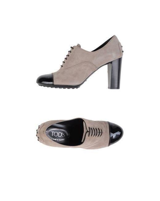 Tod'S   Женская Серая Обувь На Шнурках