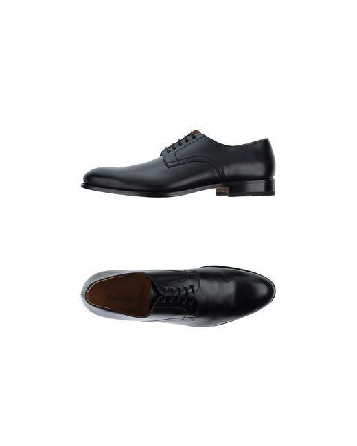 Franceschetti | Мужская Чёрная Обувь На Шнурках