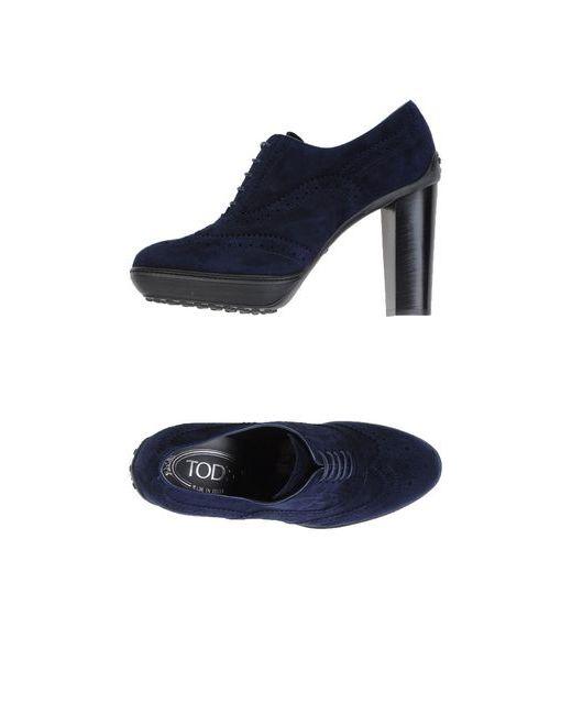Tod'S | Женская Синяя Обувь На Шнурках
