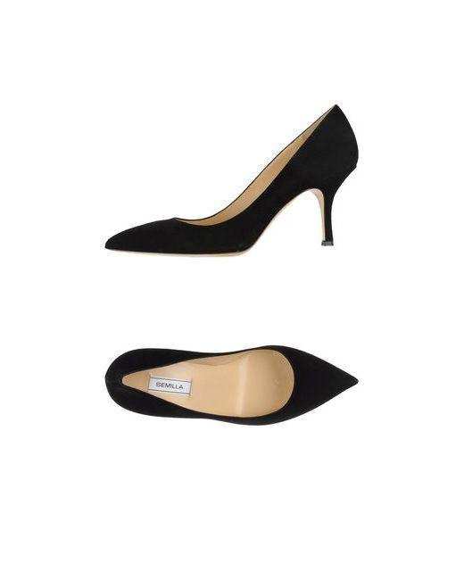Semilla | Женские Чёрные Туфли