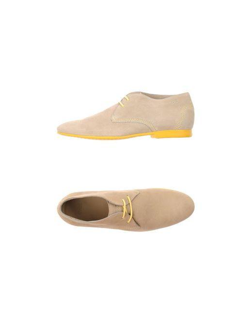 BOSS   Мужская Бежевая Обувь На Шнурках