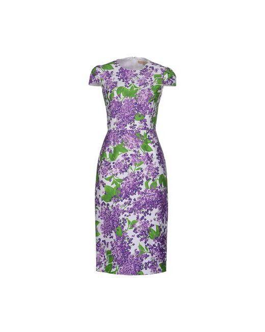 Michael Kors | Женское Фиолетовое Платье До Колена