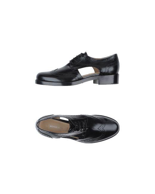 Michael Kors   Женская Чёрная Обувь На Шнурках