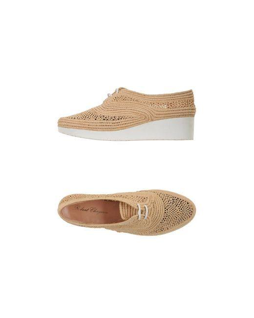 Robert Clergerie   Женская Песочная Обувь На Шнурках