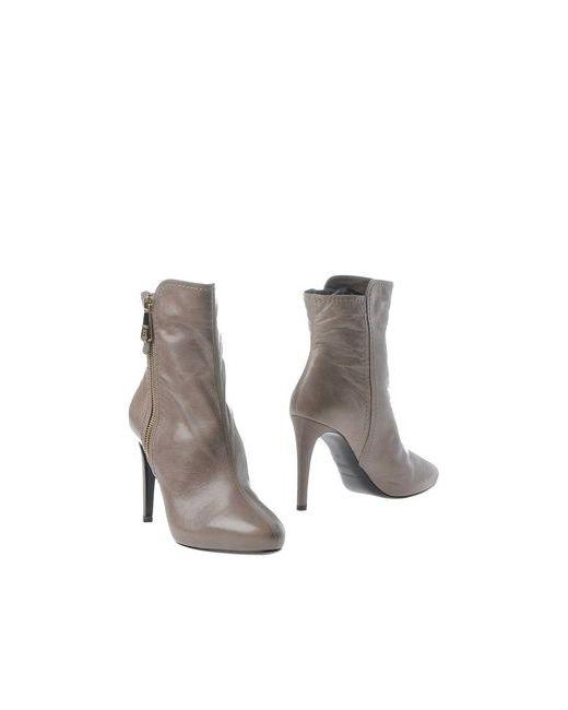 Emporio Armani | Женские Серые Полусапоги И Высокие Ботинки