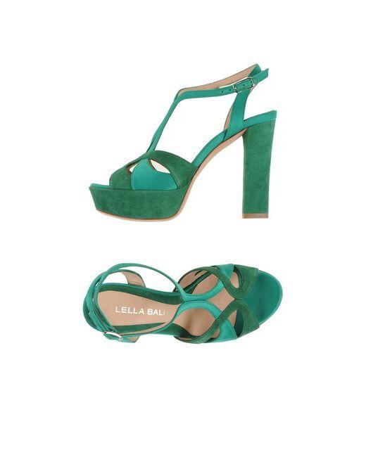 Lella Baldi | Женские Зелёные Сандалии