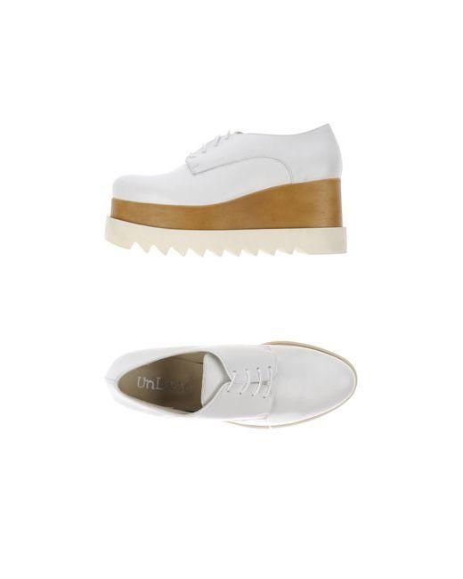 UNLACE   Женская Белая Обувь На Шнурках