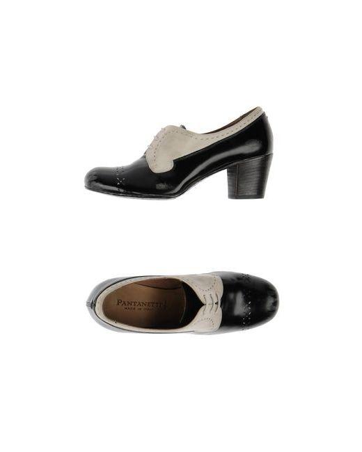 Pantanetti   Женская Чёрная Обувь На Шнурках