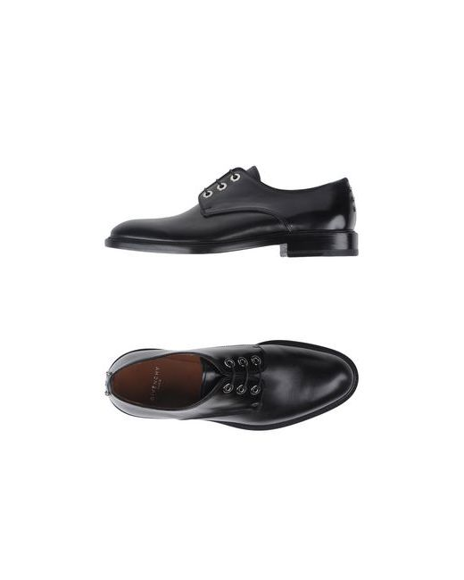 Givenchy   Мужская Чёрная Обувь На Шнурках
