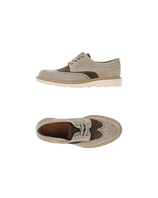 Eleventy   Мужская Бежевая Обувь На Шнурках