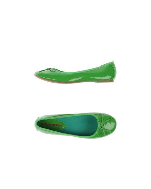 Francesco Milano | Женские Зелёные Балетки