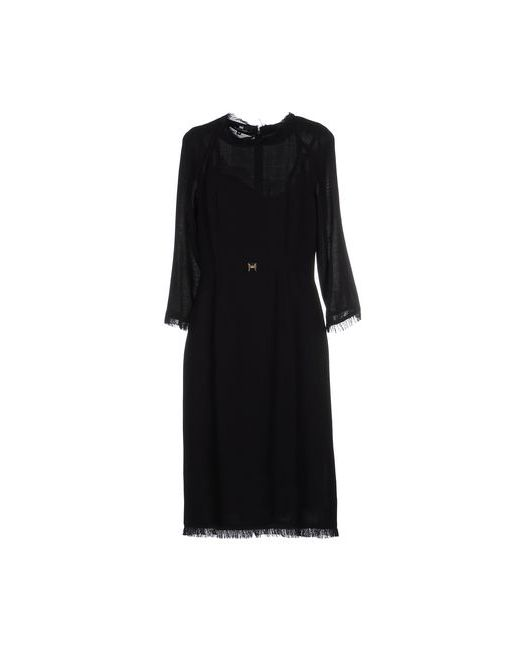 ELISABETTA FRANCHI | Женское Чёрное Платье До Колена