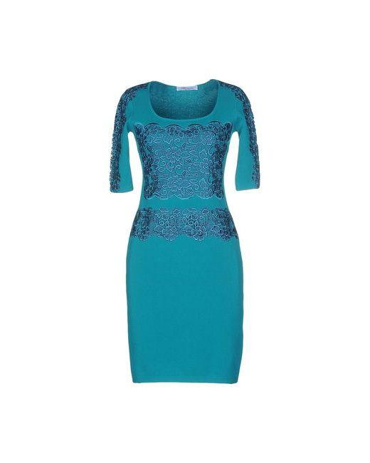 Blumarine | Женское Бирюзовое Короткое Платье