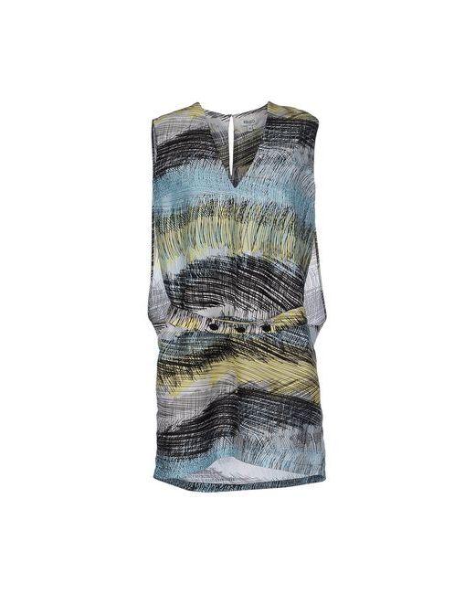 Kenzo | Женское Голубое Короткое Платье