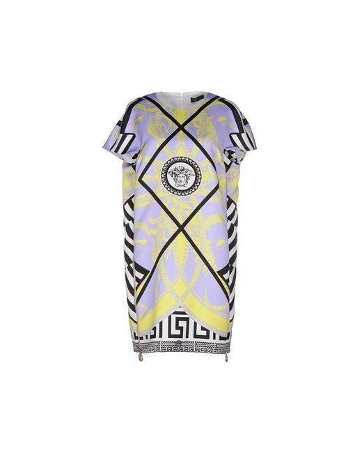 Versace | Женское Фиолетовое Короткое Платье