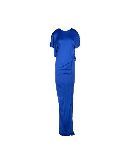 MSGM   Женское Синее Длинное Платье