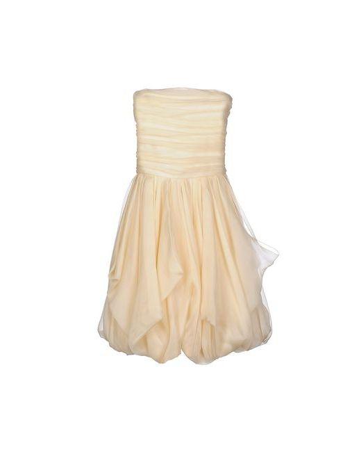 Ralph Lauren Black Label | Женское Бежевое Короткое Платье