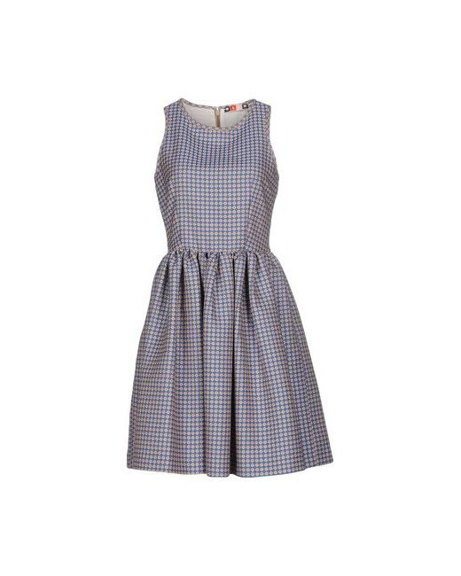 MSGM   Женское Синее Короткое Платье