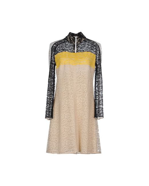 Carven | Женское Бежевое Короткое Платье