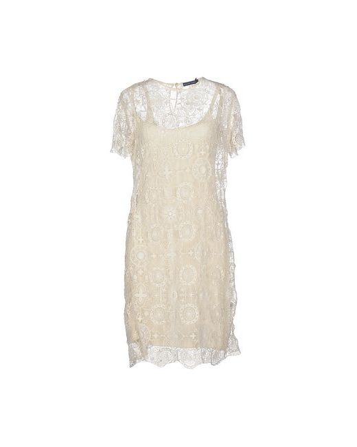Ralph Lauren   Женское Слоновая Костящее Короткое Платье