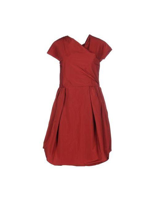 Carven | Женское Красное Платье До Колена