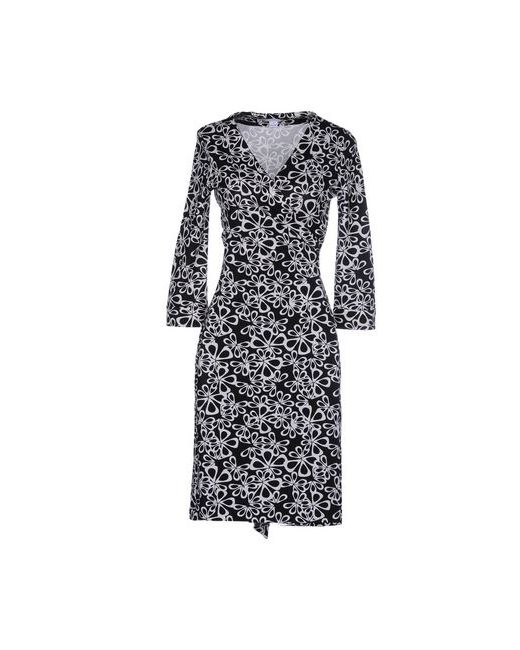 Diane Von Furstenberg | Женское Чёрное Платье До Колена